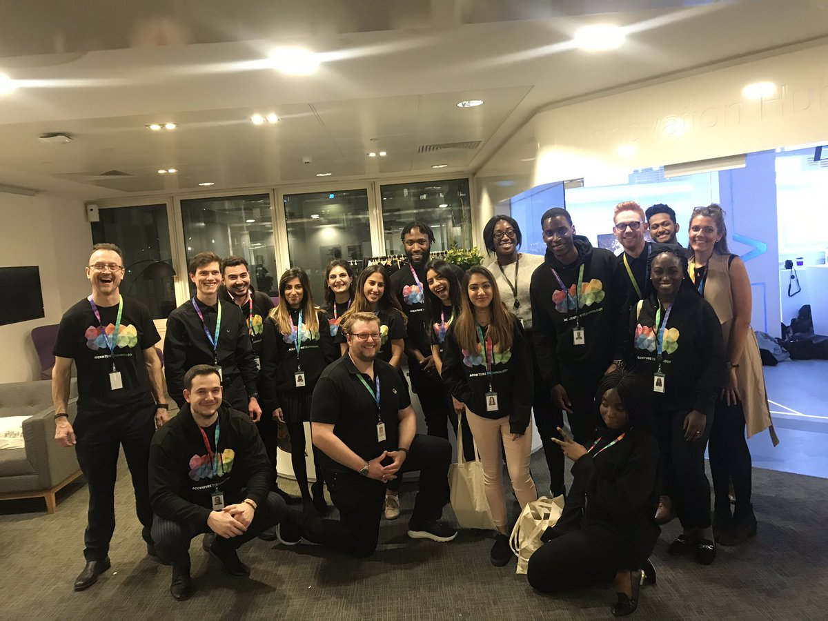 This is what BRILLIANT looks like...A team of Rockstars organising our TAG Showcase event tonight! Well done to everyone who took part. #TAG  #Accenture  #technology #belongtobrilliant https://t.co/CrAsXyvUSc
