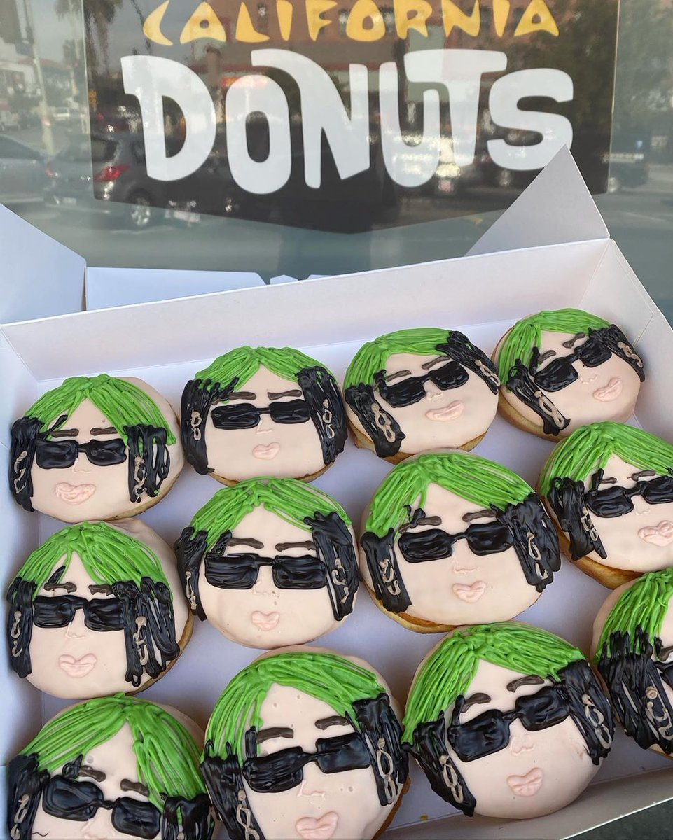 .@CADONUTS is honoring L.A.'s @billieeilish with her very own donut. Who's getting a box today?