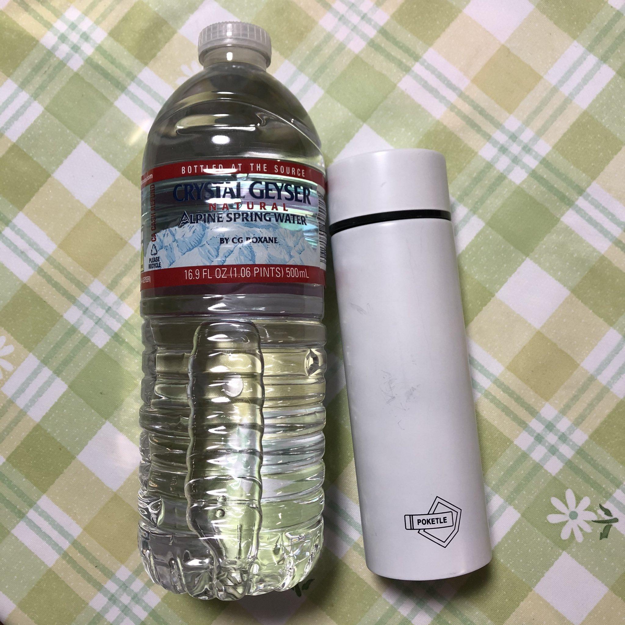 画像,おはゆうです。超ミニ水筒。ポケトルと言うのか(*゚0゚)流行ってるんだね。知らなかったけど、便利サイズで愛用中でした💕旦那さんが、これくらいしか入らないんじゃ、…