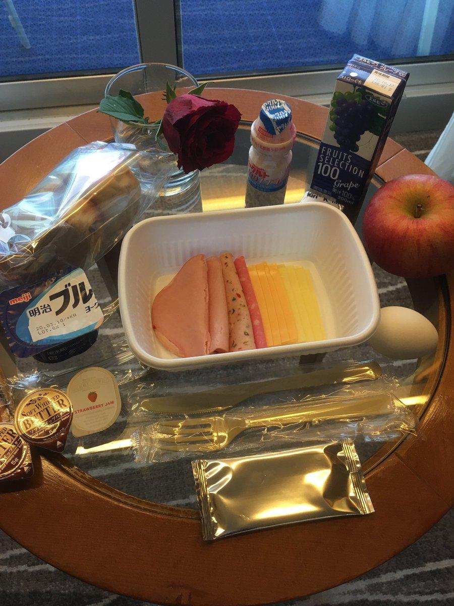 今朝の朝食です!😃元気なクルー達の『オハヨーゴザイマース!!😃😃😃』が聞けなくなると思うと寂しいです(涙)。ワールドセントラルキッチン様、いつも美味しいお料理をありがとうございました!料理は人の心を明るくする事を、今回とても学びました。感謝を込めて、いただきます!