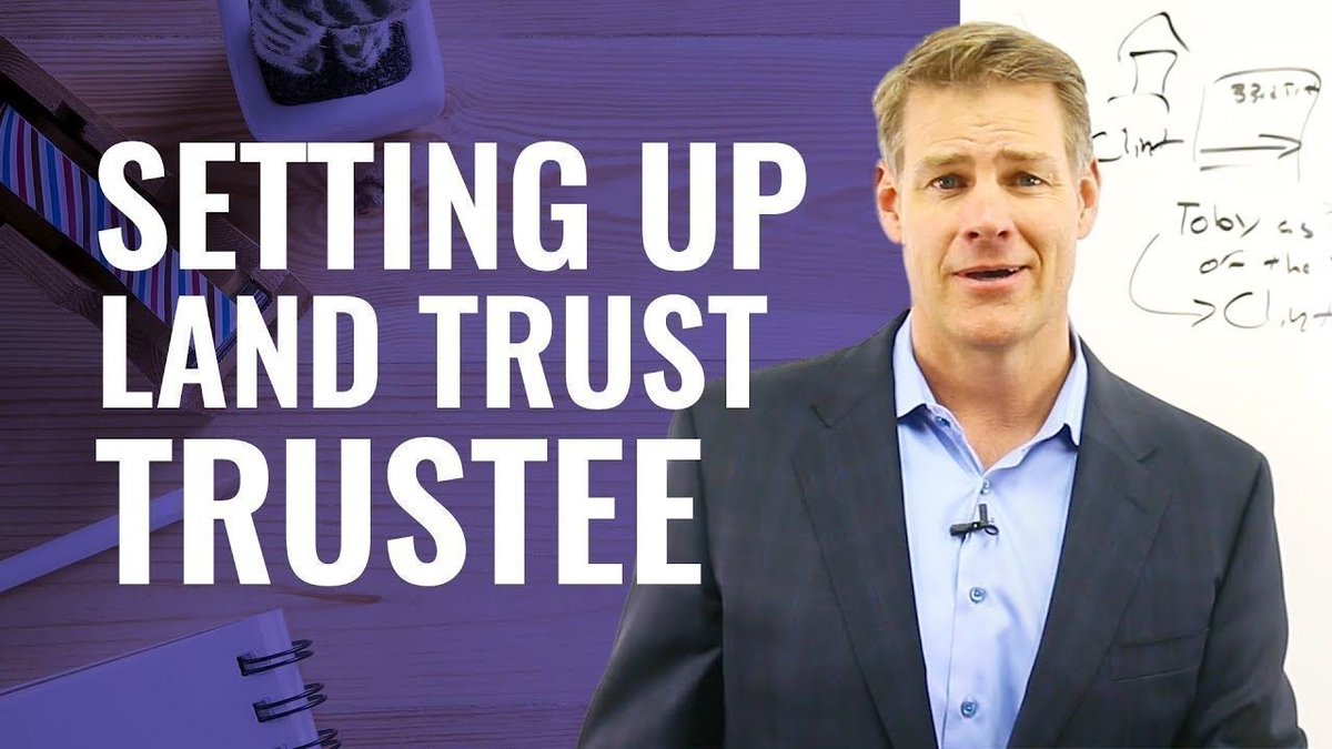 Truth About Setting Up a Land Trust Trustee (NEW - 2019!) https://buff.ly/2yJWQIy  #realestateinvesting pic.twitter.com/dKWf88gXq3