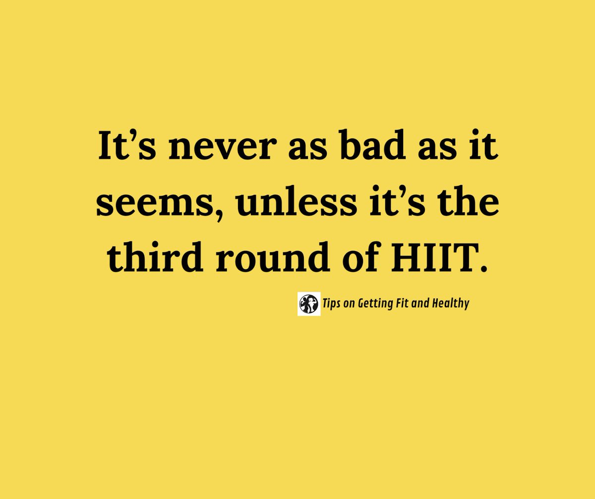 If you can survive the 3 rd round of HIIT, you can do anything 💪