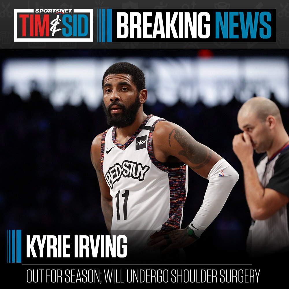 Kyrie Irving's season has come to an end, per @ShamsCharania. #NBATwitter