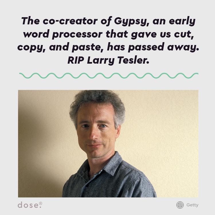 Cut, Copy, and Paste... RIP Larry Tesler.   (via @Gizmodo)