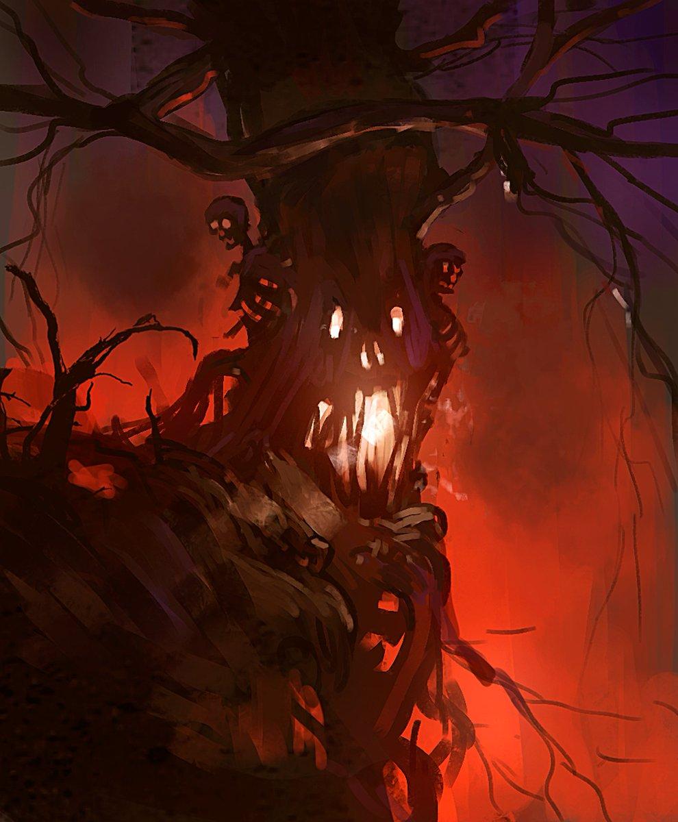 30 Min spitpaint: Corpse Tree(click for full size)  #digitalart #practice #art #visualart <br>http://pic.twitter.com/gIS9Lrf90I