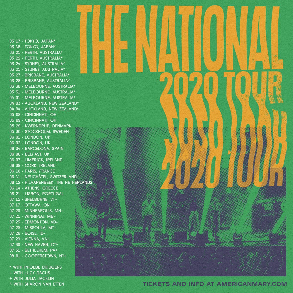 Playing a few of these shows ❤️ @TheNational
