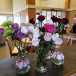 Special thanks to The Flower Shop in the Village for donating some beautiful flowers for our main lounge. Our resident flower arranger, Cecile created some beautiful displays. #Flowers #augustinehouse #forbetterretirementliving