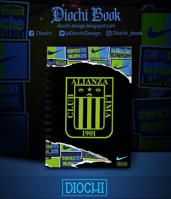 (Perú) Portada inspirada en la publicidad Nike para los colores de la camiseta alterna de Alianza Lima 2020 #DiochiBook #notebook #Book #AlianzaLima #ArribaAlianza #alianzacorazón
