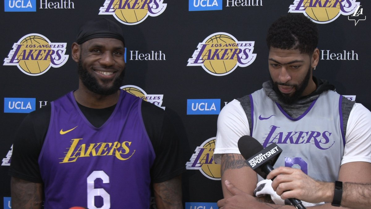 Replying to @Lakers:  *** 🎥 LeBron and AD discuss All-Star Weekend and staying focused in the 2nd half of the season.  #LosAngeles #LosAngelesLakers #Lakers #LeBronJames #StriveForGreatness #NBA #NBAAllStar #TeamLeBron