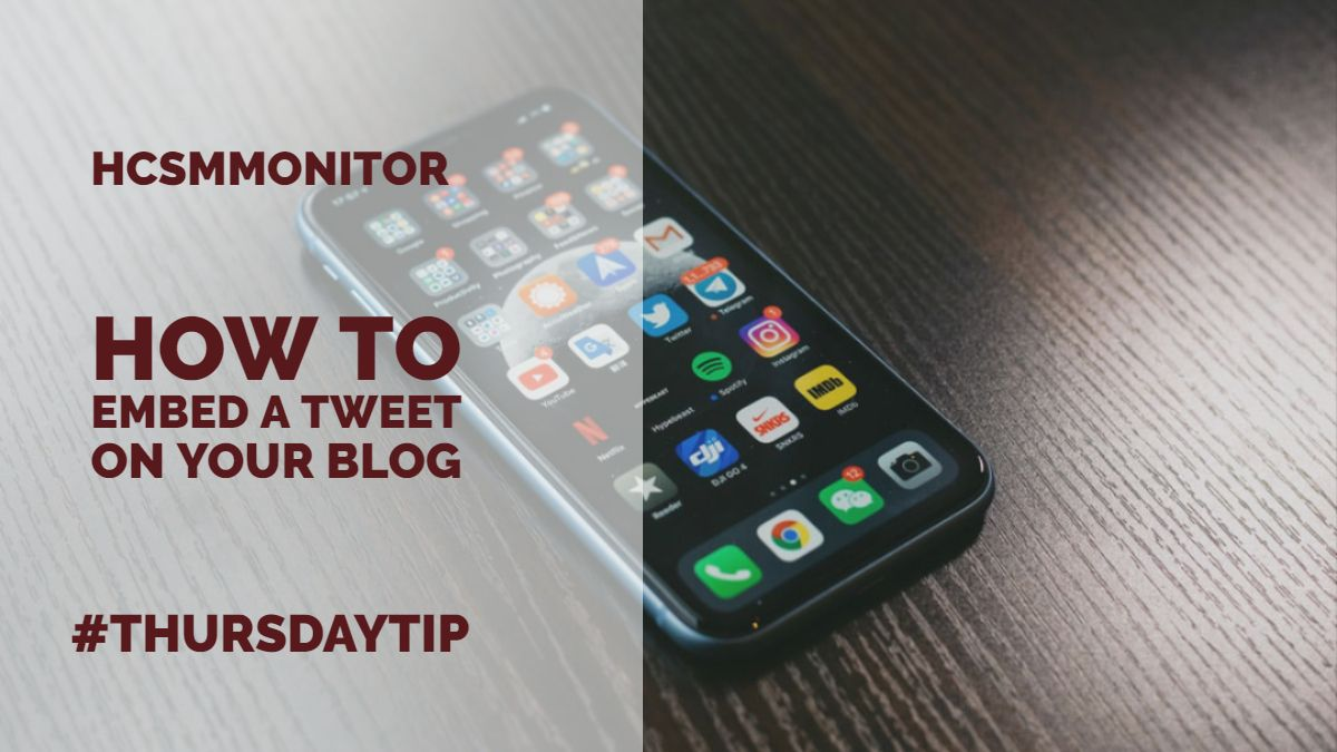 #ThursdayTip: How To Embed A Tweet On Your Blog https://t.co/jHY4kqrunp https://t.co/urte0KC1wG