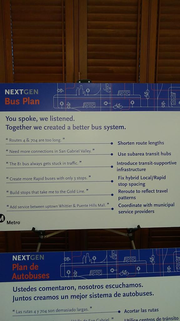 @metrolosangeles NextGen bus plan pic.twitter.com/G3atR1PeET – at Pasadena Senior Center