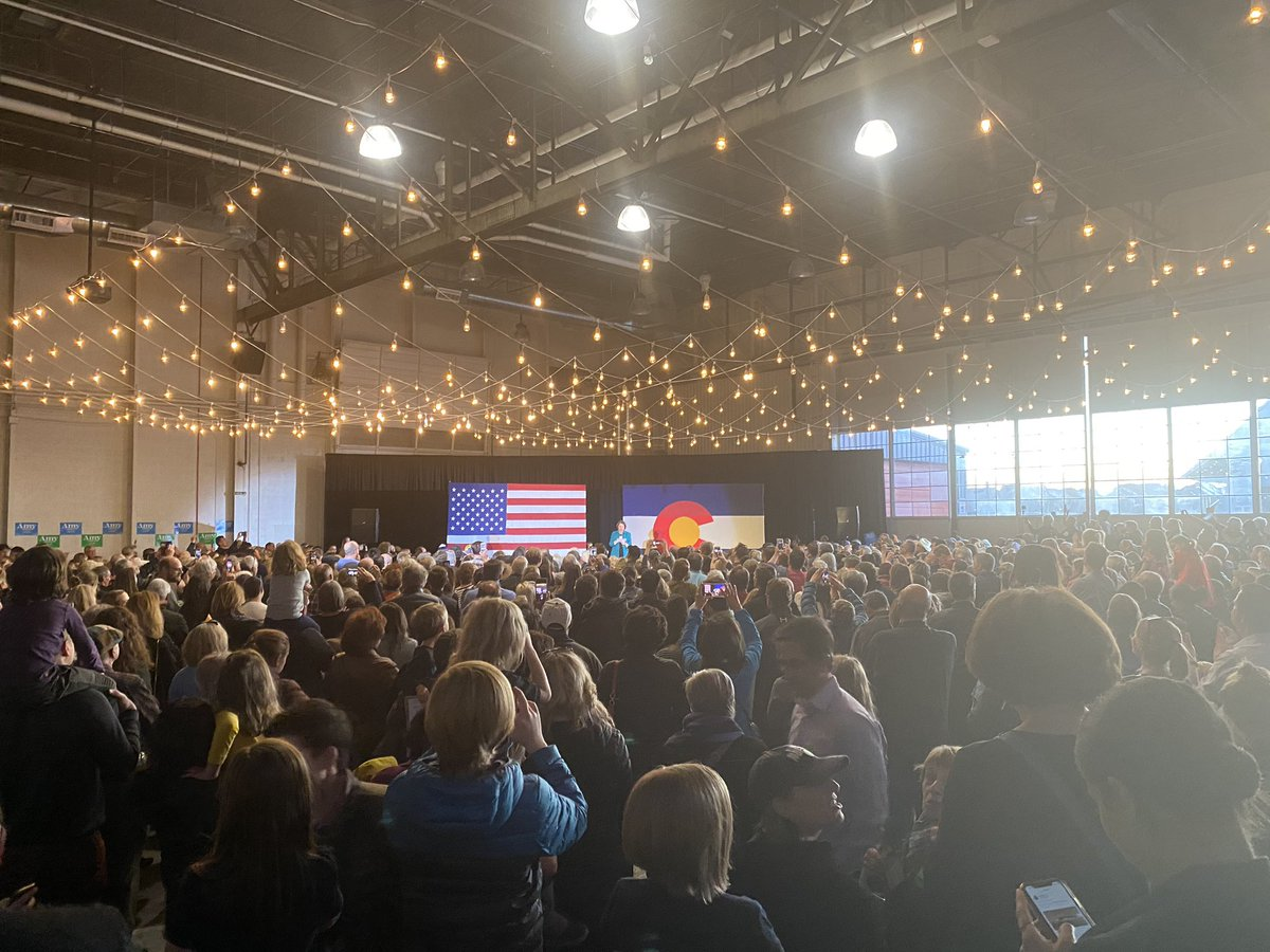 Over 1,100 Coloradans in Aurora for Amy Klobuchar.