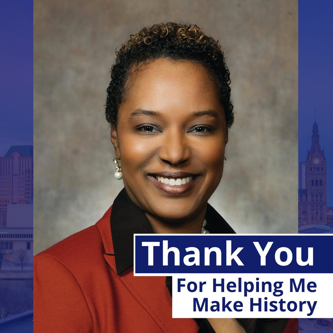 Lena just made history! Taylor became the first African American woman and first female candidate to advance to the general election in the race for Milwaukee Mayor. Last night's primary results were clear, the City of Milwaukee is ready for a change! #Mke #Milwaukee #politics