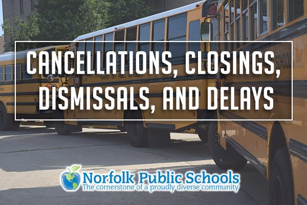 Norfolk Public Schools will be closed tomorrow, Friday, Feb. 21, for all students and staff.