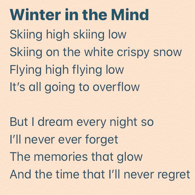 Anothe one of my poems #author #writer #writing #writingismypassion #ilovewriting #readingforever #writerslife  #poem #poetryofinstagram #poetrylovers #poetry #poemoftheday #ilovepoetry #poetrycommunity #poetryislife #skiing #winter #winterpoem #skipoem  #memories #makingmemoriespic.twitter.com/HMEdPb2tqB
