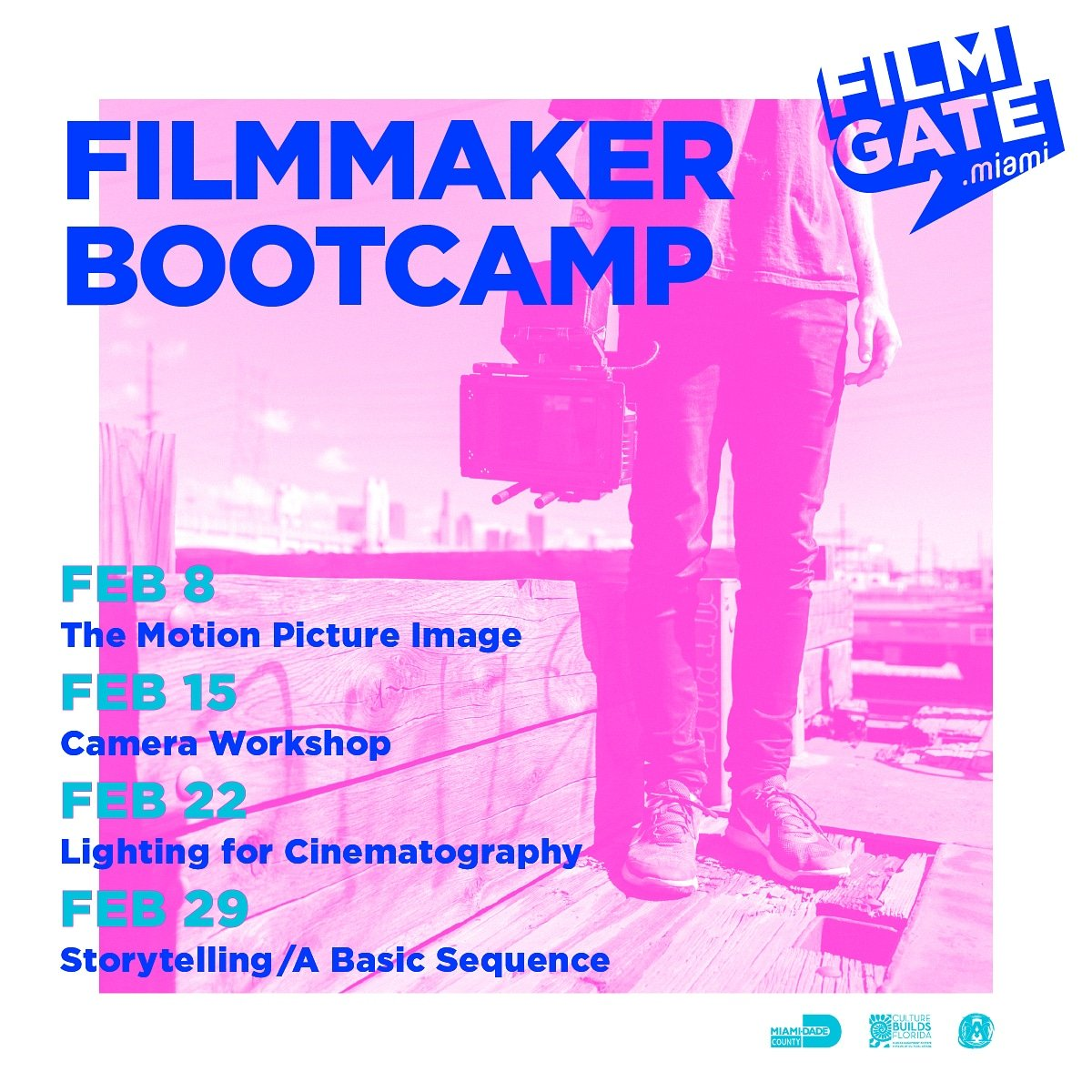 Filmmaker Bootcamp - Lighting for Cinematography workshop this Saturday - Lighting or Cinematography alone doesn't make a quality image. Let's show you how it's done. #miamievent #thingstodo Ticket link http://FilmGate.miami pic.twitter.com/dQsAAvAFxk – at Downtown Media Center
