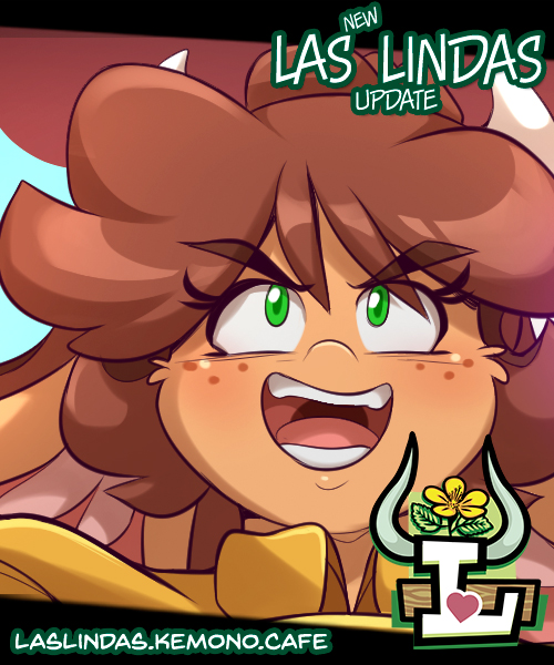 New Las Lindas page is up at Kemono Cafe! Nice save, girl. laslindas.kemono.cafe/comic/gossaner…