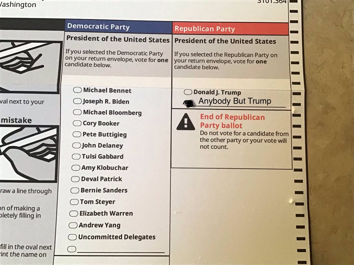 I'm with the Democratic Party. @PattyMurray @BernieSanders My suggestion. Anybody But Trump for the Republican Party. #ImpeachTrumpAgain #ImpeachmentDay @StephenKing #AnybodyButTrump If you are republican, care for your country.. please vote Anybody But Trumppic.twitter.com/84hn9IGUPZ