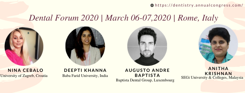"Dental Forum 2020 International Conference focus upon theme ""A Comprehensive access to Modern Dentistry"" Kindly join us at Rome, Italy to be the part of our Conference. #internationalconference #conference #dental #dentistry #teeth #dentalpractice #orthodontist #dentalimplantspic.twitter.com/jCUyqkRmyI"