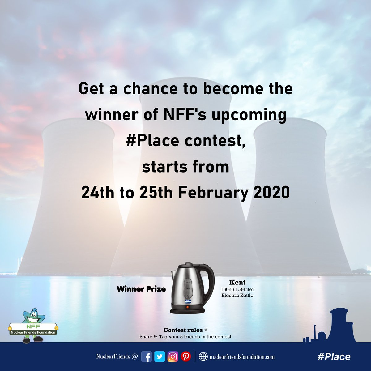 #ContestAlert Get a chance to become the winner of NFF's upcoming #Place contest, starts from 24th to 25th Feb 2020  Reach us @ http://nuclearfriendsfoundation.com  #Contest #like #RT #comment #chance #Win #prizes #Today #goodluck #entertowin #FridayFeeling #FridayThoughts #Mahashivratri