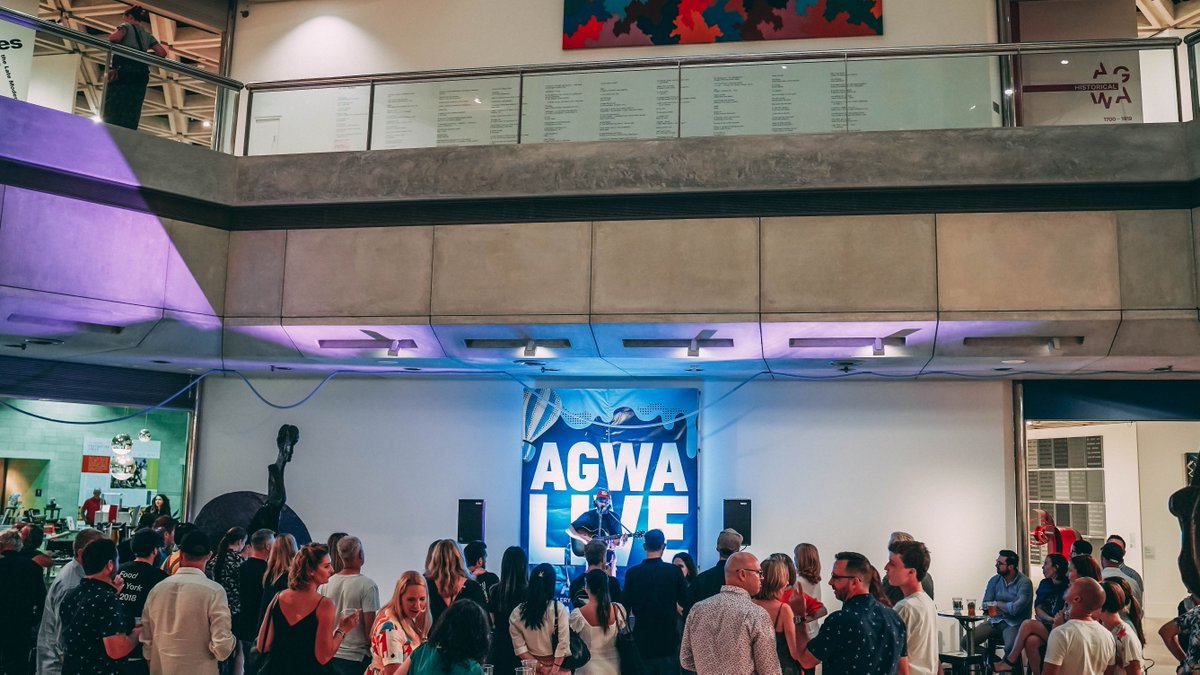 TONIGHT, start your weekend with #agwalive!  Grab a brew at a pop-up bar from Otherside Brewing Co and catch local musicians Noah Dillon and Fraeya performing from 7pm. All exhibition galleries open until 9pm #otherside #musicwa https://bit.ly/2u4MioRpic.twitter.com/3rENg1q7k6