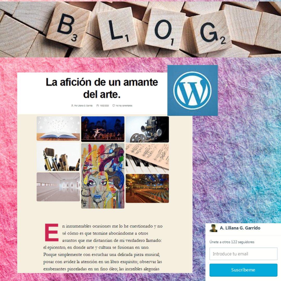 Blog post: La afición de un amante del arte. Entrada: 15/02/2020. Lectura: https://lilianaggarrido.wordpress.com/#WhenYourHeartGoesByWithTheArt #ArtEnrichYouLife #ArtIsMeaningful#CultureEducate #CultureIsAwsome #ArtLover #randomideas#writingprocess #escrituracreativa #blog #wordpress