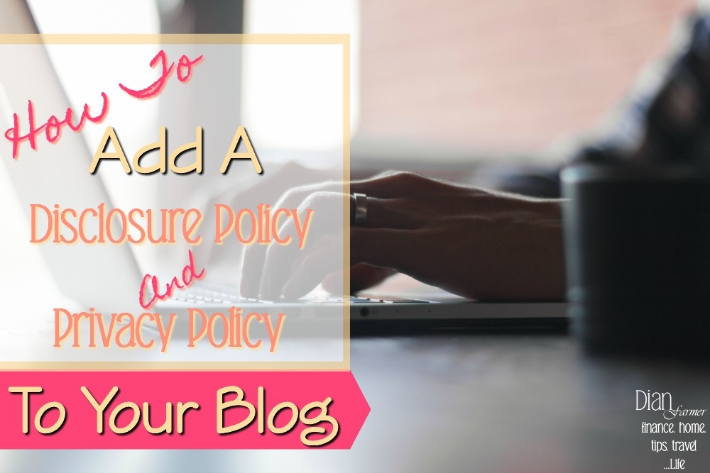 Adding Privacy And Disclosure Policy Pages To Your New Blog  http://bit.ly/2sXDGPq  . . . . . . . #blog #blogs #blogg #bloggerslife #lifestyle #lifestylebloggers #budgeting #budgetblogger #budgetliving #DianFarmer #tips #ontheblog #lifestyleblog #lifestyleblogger #wepic.twitter.com/4IBQXFgJfL