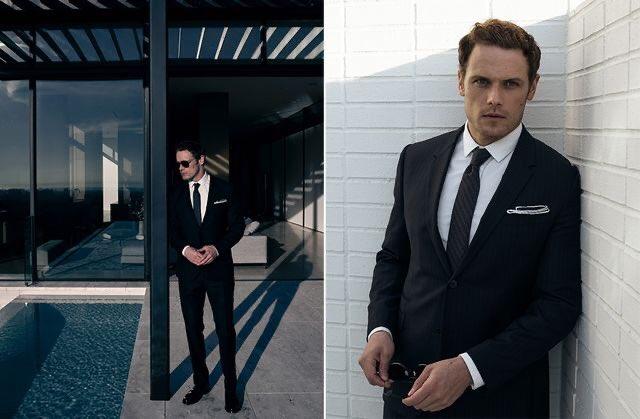 Wondering if Sam really likes to wear ties? #SamHeughan #outlander @noblemag @SamHeughan