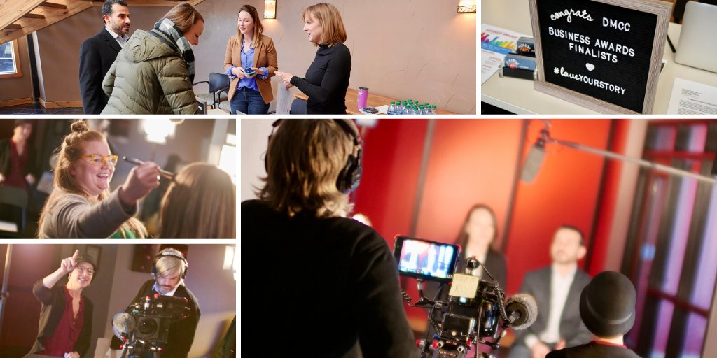 A #behindthescenes look at the #videoshoot for this year's @DenChamber #BusinessAwards. Such inspiring stories of success! #CelebrateYourStorypic.twitter.com/H40O7WlbZA
