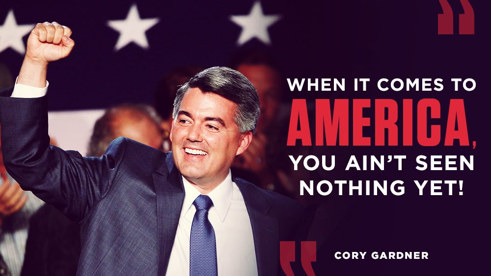 I believe in Colorado. I believe in America, and I believe in all of you. Thank you Colorado Springs! #copolitics