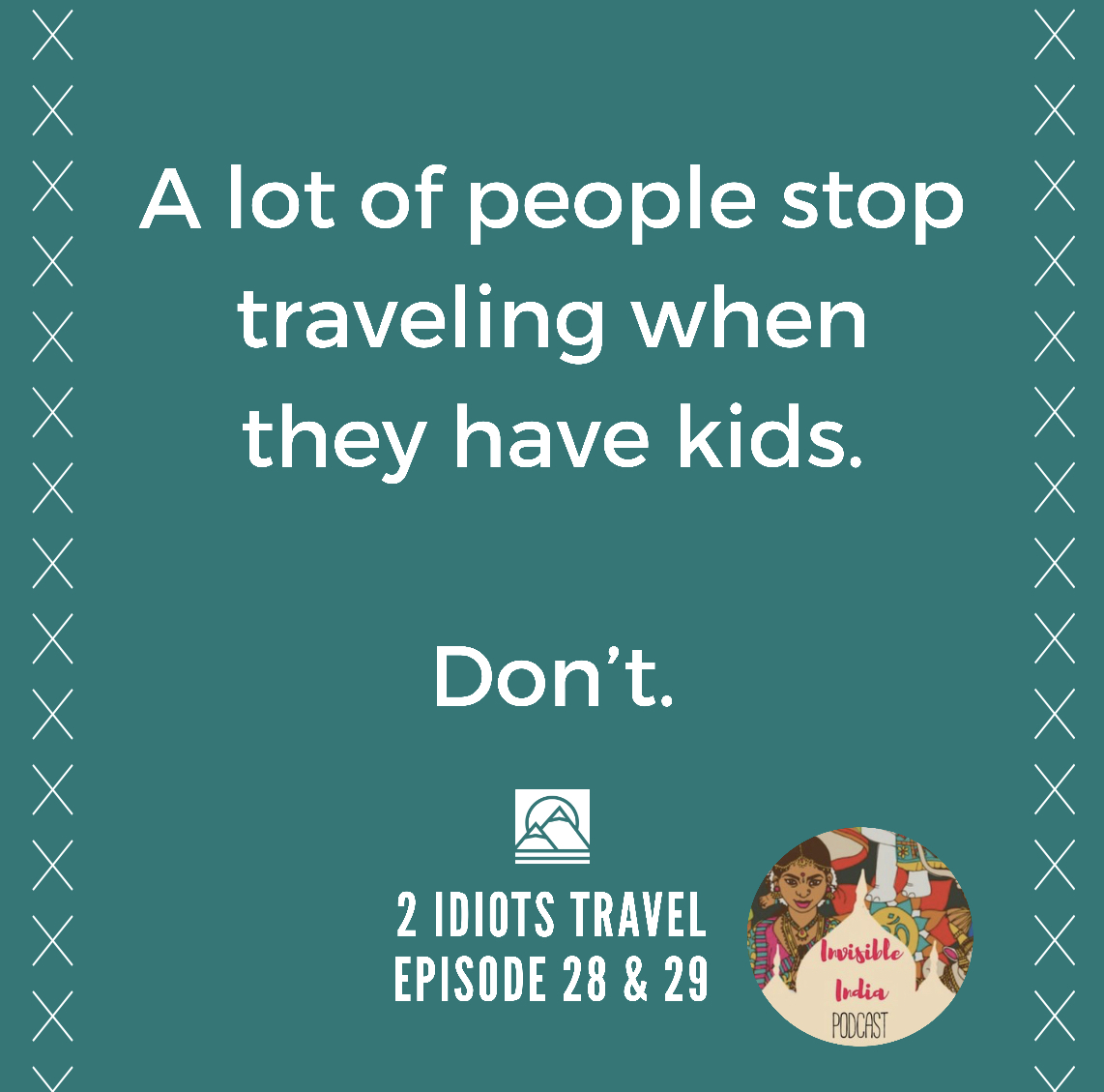 A lot of people stop traveling when they have kids.   I think a lot of the hiccups that occur just have to do with being a parent.   Episode 29-link in profile  #GapYear #travelblog #travelwithkids #travelingwithkids #travelfamily #kidswhotravelpic.twitter.com/3ZargbWrMr