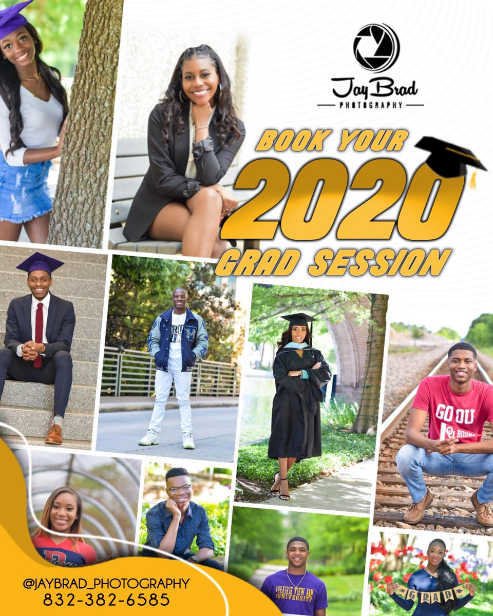 It's that time of the year again NOW BOOKING ALL Classof2020 Graduation Portraits. Calling ALL Highschool/College Graduates!!! If you know anyone in Classof2020 Tag them or let them know ASAP!!!  #SupportYourPpl #Share #JayBradPhotography #QualityWork #Affordable #QuickTurnAroundpic.twitter.com/9F4RrF6rOk