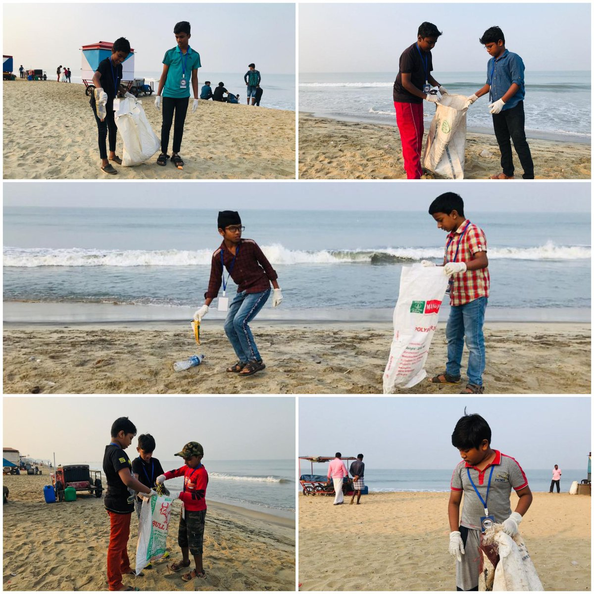 Atfalul Ahmadiyya(auxilary wing of boys) kozhikode chapter in  cleaning the beach <br>http://pic.twitter.com/We2xYsrLOn