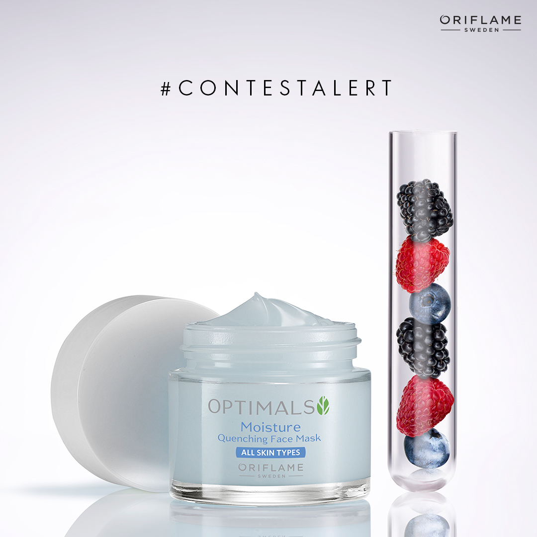 #ContestAlert The Optimals Moisture Quenching Face mask refreshes and intensely hydrates your skin with a Swedish blend of 3 replenishing berries. Comment with the names of these berries for your chance to win. #OriflameWeeklyGiveaway