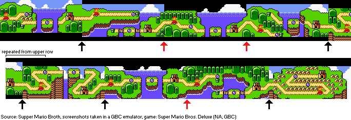 Supper Mario Broth On Twitter Chaining Together The World Maps