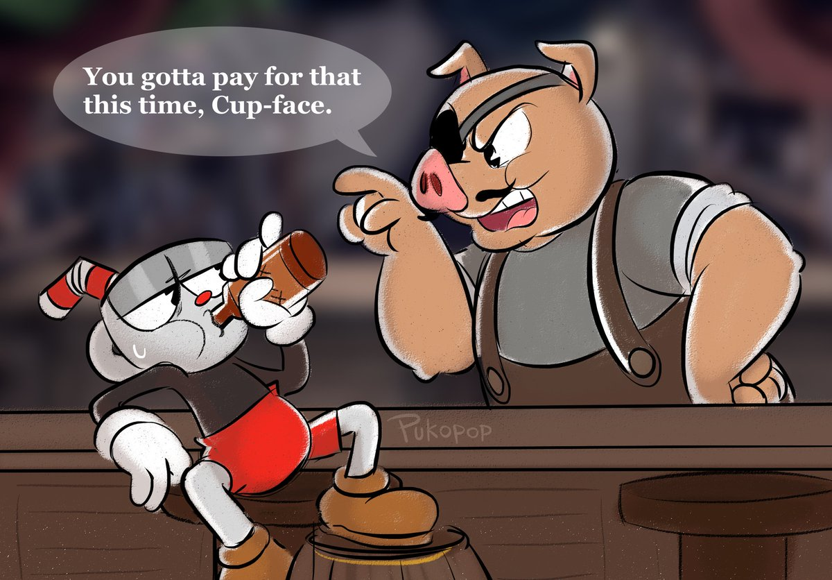 Porkrind has had enough patience with Cups already...😔#Cuphead