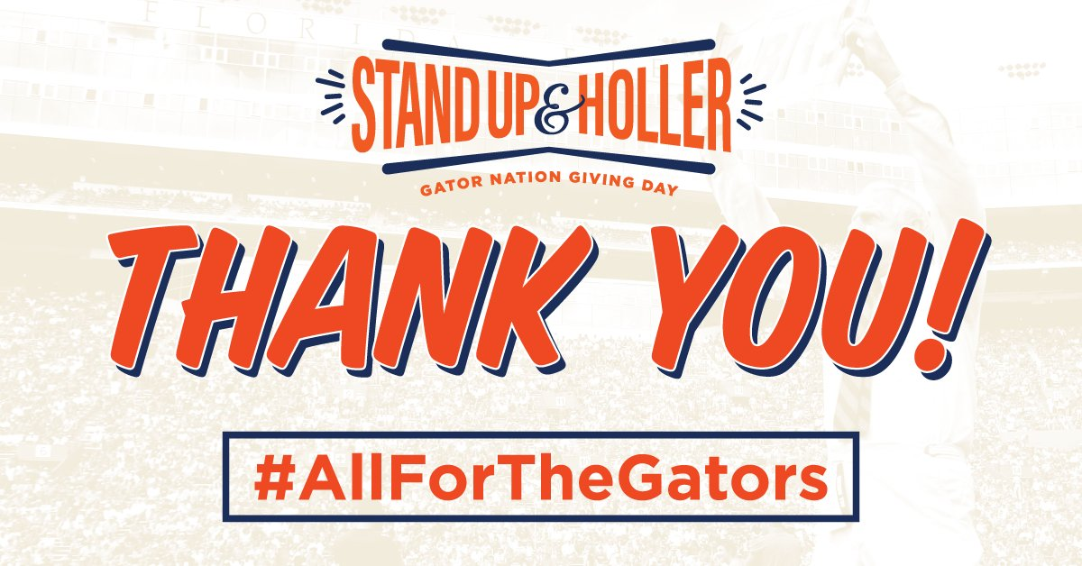 Thank you Gator Nation - it's been an inspiring 24 hours of support for @UF! #AllForTheGators