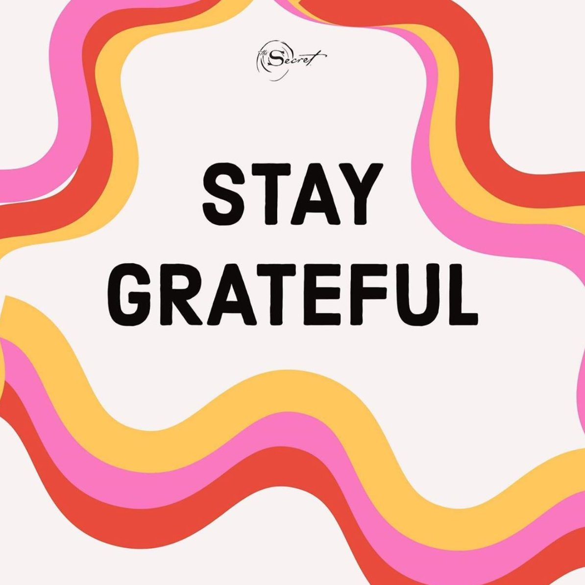 When you're grateful you're not focusing on you. It stops the misery of me. What do you do to stay grateful?