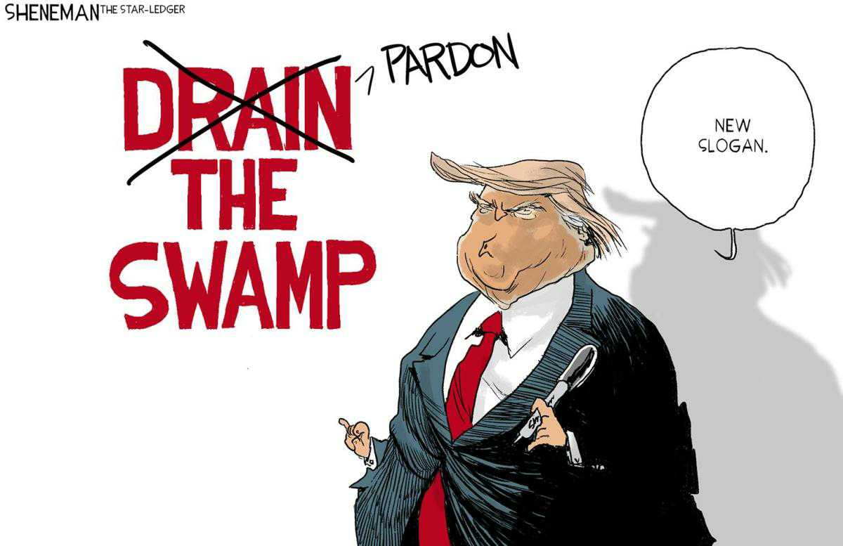 #POTUS #PardonTheSwamp #PoliticalHumor #editorialcartoons pic.twitter.com/rKKcRzTnJ8