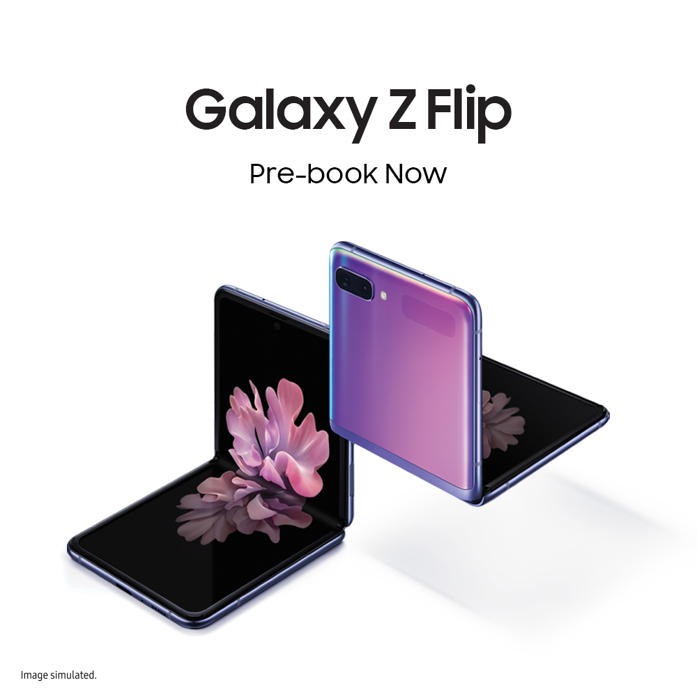 The all-new #GalaxyZFlip is here, featuring an iconic form factor that's perfectly compact. Change the shape of the future. Pre-book now: http://spr.ly/60111lrvJ  #Samsung