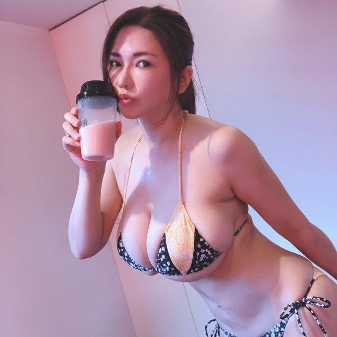 AV女優沖田杏梨のTwitter自撮りエロ画像25