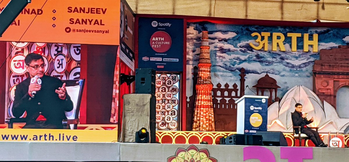 The economy of ancient India was run through temples; they were the banks; they provided the venture capital - the reason why the most important ones were by the shore or in port cities; the ease of doing business was in their hands, says @sanjeevsanyal at @arth_live.