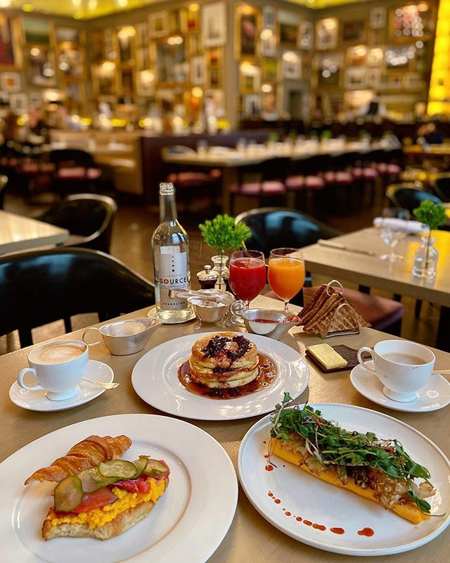 Trying some of the new breakfast dishes at @bernerstavern  Spicy seasonal mushroom omelette with beansprout & sesame salad, house smoked beetroot cured salmon croissant with scrambled eggs & pickles and blueberry pancakes with summer berry compote … https://ift.tt/39WbsFp pic.twitter.com/9maIY6BA76