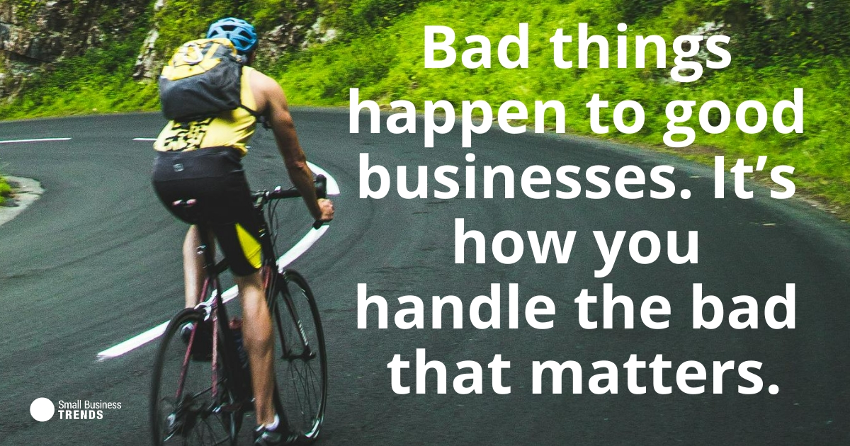 RT @smallbiztrends: Bad things happen to good businesses. It's how you handle the bad that matters. https://zcu.io/ebZz #FridayFeeling #FridayMotivation #SmallBizQuote