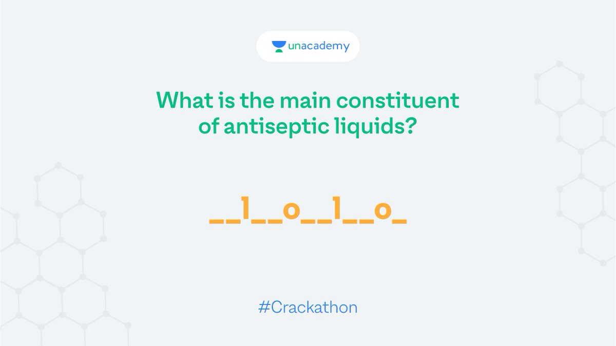 Hint: The chemical formula is C8H9ClO Participate and stand a chance to win exciting goodies!  #LetsCrackIt #ContestAlert #Crackathon #ContestAlertIndia