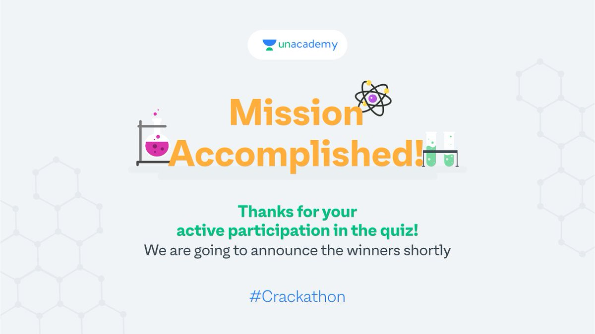 We loved your zeal in participating in the Chemistry Crackathon. Keep your fingers crossed for the winner announcements! Surprise goodies coming your way. #LetsCrackIt #ContestAlert #Crackathon #ContestAlertIndia