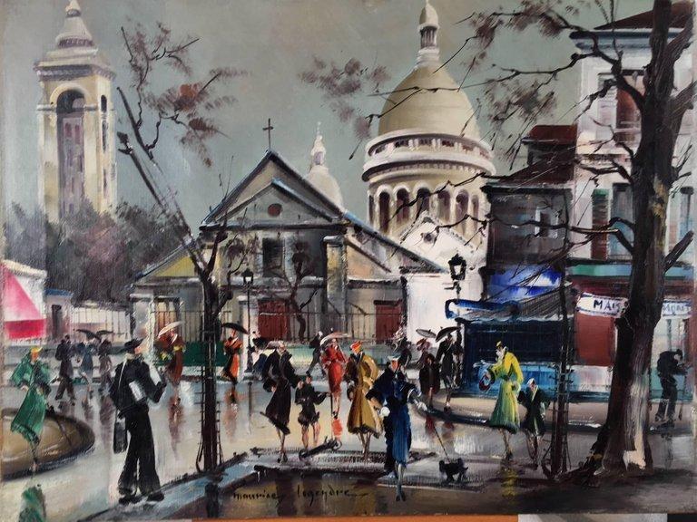 Maurice Legendre Place du Tertre.  ,Montmartre Paris