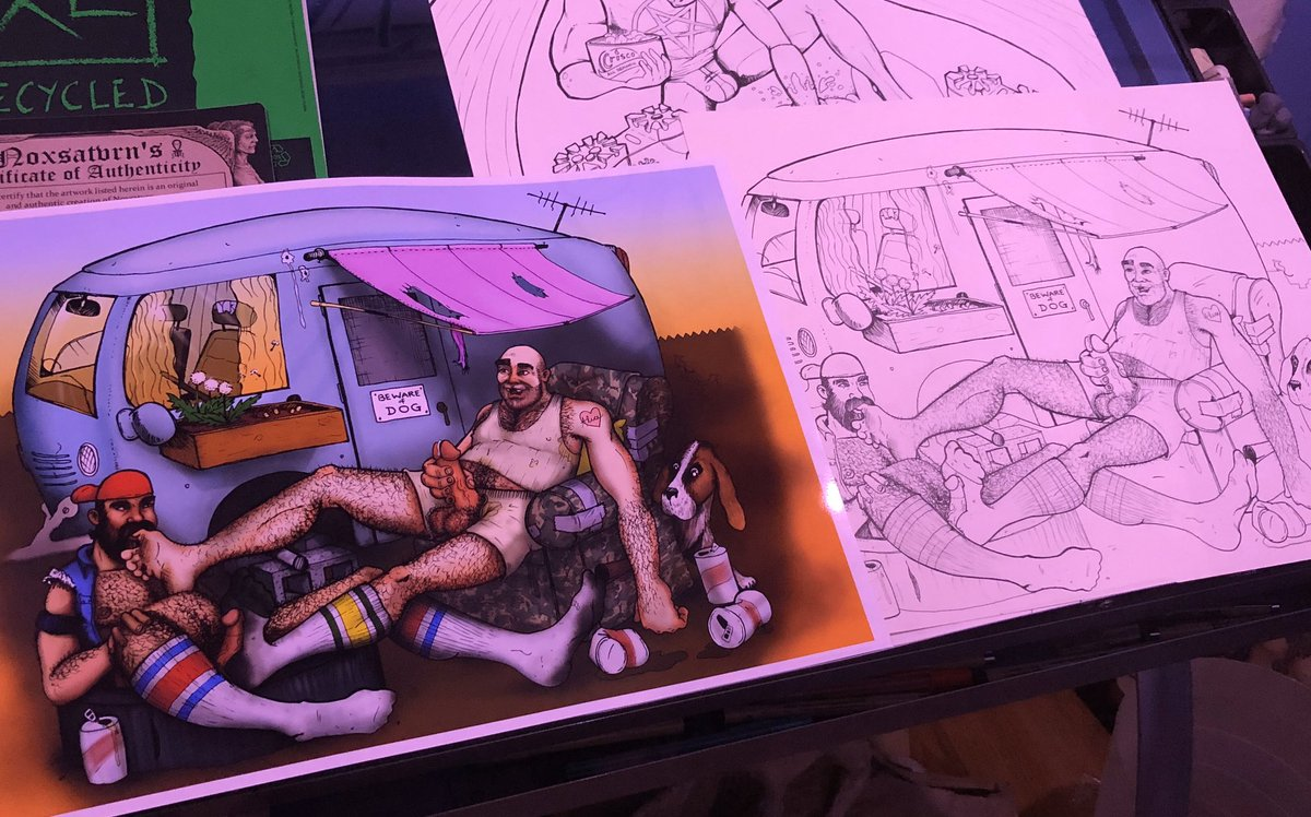 All #printed and drying before a sign & title it. I'll send it out soon. #art #gayeroticart #eroticart pic.twitter.com/wi5gf60IUo