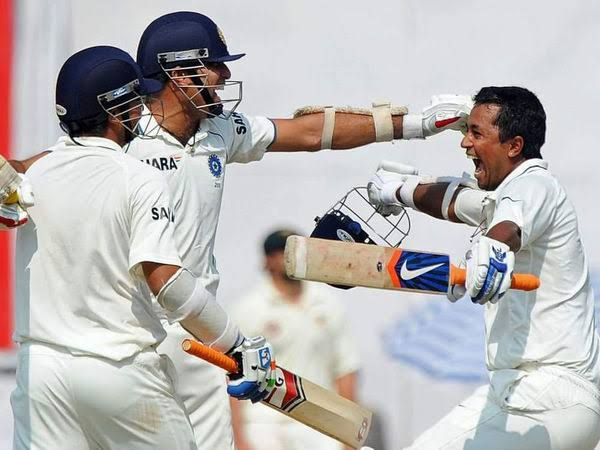 We'll always remember u as a hero @pragyanojha,your last minute cameo with your very own mentor @VVSLaxman281 almost 10 years back @ Mohali to forge us a thrilling victory against might Aussies will always be hailed Thank you champion Special mention @ImIshant  #PragyanOjha<br>http://pic.twitter.com/DUmM5924Cy