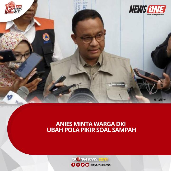 Gubernur DKI Jakarta, Anies Rasyid Baswedan menilai bahwa warga harus mulai mengubah cara mereka menangani sampah di ibu kota. Baca berita selengkapnya di http://Viva.co.idSumber: http://Viva.co.id#NewsOne #tvOneNews #AniesBaswedan #Anies #Sampah